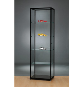 Luxe vitrinekast zwart 60 cm