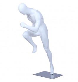 Sport Faceless etalagepop heer glossy wit ZJMS01
