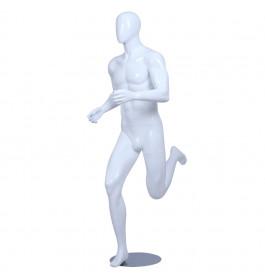 Sport Faceless etalagepop heer glossy wit ZJMS02