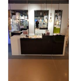 Moderne toonbank showroommodel wit / zwart 280 cm breed