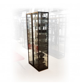Zwarte design vitrinekast 40 x 200 x 40 cm